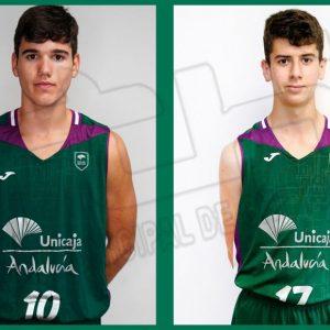 Satisfacción en el Club Baloncesto Chipiona con los logros de los dos jugadores chipioneros que militan en Unicaja Málaga