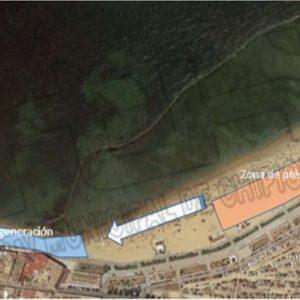 Lucas Díaz destaca la importancia de la colaboración de Demarcación de Costas para la puesta a punto de la playa de La Cruz del Mar
