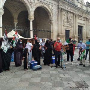 Marcha por la Libertad del Pueblo Saharaui.  Etapa 3. Rota-Jerez  22 de mayo.