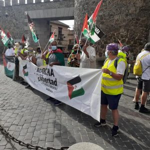 Marcha por la Libertad del Pueblo Saharaui.  Etapa 16.  Toledo-Recas-Parla 16 de Junio