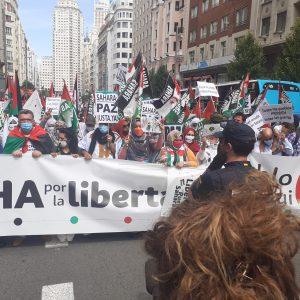 Marcha por la Libertad del Pueblo Saharaui.  Etapa Final .-   Campo del Moro- Plaza de España- Puerta del Sol  19 de Junio