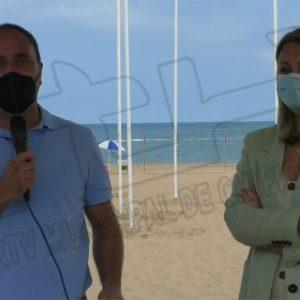 Finalizan los trabajos de reperfilado de la playa Cruz del Mar y colocación de los marcadores