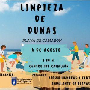 Lucas Díaz anuncia una actividad de voluntariado que consistirá en la limpieza del cordón dunar