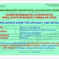 El jueves 5 de agosto pueden vacunarse en IFECA Jerez los nacidos entre  1962 y 1981 que no lo hayan hecho hasta ahora