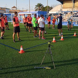 El Estadio Gutiérrez Amérigo acogió el sábado una concentración de árbitros federados de Cádiz para las pruebas físicas anuales