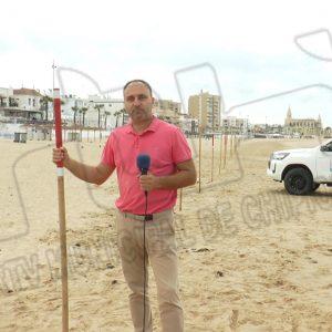 El delegado de Playas del Ayuntamiento de Chipiona, Lucas Díaz, ha anunciado hoy el cierre de la temporada alta de playas