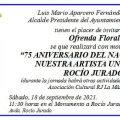 Chipiona festeja el 75 aniversario de Rocío Jurado a sabiendas que es el 78
